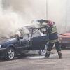 Pożar samochodu na Mickiewicza