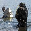 Sprzątanie dna jeziora Gołdap