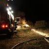 Pożar stogu słomy w Komornikach