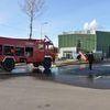 Ćwiczenia strażaków ochotników w Rudnie