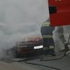 Pożar samochodu na ul. Mrongowiusza