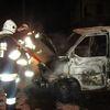 Frombork, pożar samochodu