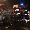 Czołowe zderzenie w Kukowie
