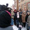 Ząbrowo — manifestacja przeciwko zamknięciu poczty (29.12.10)