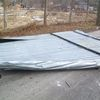 Biedkowo, zerwany dach przystanku