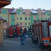 Pożar klatki schodowej w Lubawie