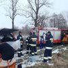 Braniewo, ćwiczenia strażackie na lodzie