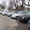 Braniewo, parking-komis koło ronda