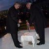 Podczas uroczystości rocznicowych wmurowano kamień węgielny pod pomnik Jana Pawła II w Mławie