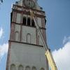 Dźwig przy kościele