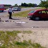Motocykl zderzył się z samochodem - dwie osoby zostały ranne