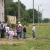 Mieszkańcy Białej Piskiej przywitali pociąg