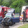 Wypadek na krajówce w Sampławie