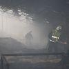 Pożar w budynku inwentarskim