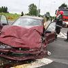 Wypadek na krajowej szesnastce. 8 osób rannych