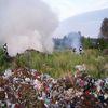 Pożar na wysypisku śmieci w Iławie
