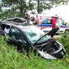 Białczyn, Peugeot uderzył w drzewo