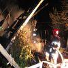 Pożar altany działkowej w Lubawie