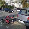 Wypadek na Skłodowskiej, motocyklista w szpitalu