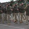 Oficjalne powitanie żołnierzy w jednostce w Gołdapi