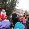 Mikołaj wylądował na wieży nidzickiego ratusza