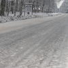 Oblodzona droga z Pisza do Wiartla