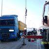 Chruściel, przewrócona ciężarówka