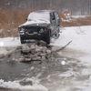 Samochodem wjechał na zamarznięte jezioro