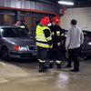 Pożar samochodu w Galerii Jeziorak