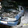 Kajnity, spłonął samochód