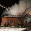 Pożar w Dywitach. Doszczętnie spłonął dom.