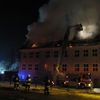 Pożar gimnazjum w Wielbarku