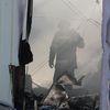 Pożar kurników w Trękusku