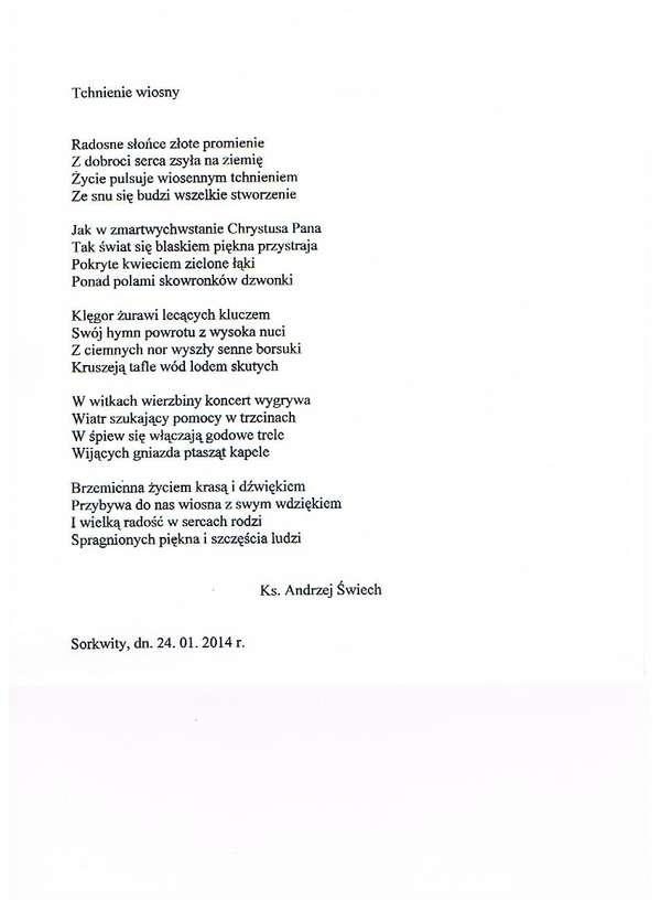 Wiersze Andrzeja świecha