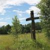 Nowy przydrożny krzyż w Dąbrowie