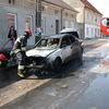 Pożar samochodu w Gąskach