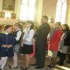 Uroczysta msza z udziałem uczniów SP1