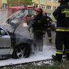 Pożar samochodu na ul. Wyszyńskiego