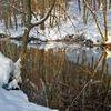 Zimowe krajobrazy: Jezioro Nidzkie i rzeka Nidka